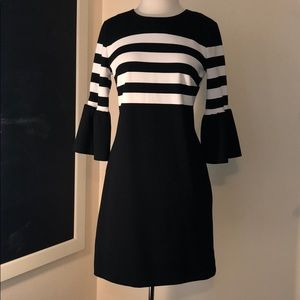 Michael Kors striped black dress